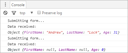 x-www-url-formencoded post is bound correctly but JSON post is not