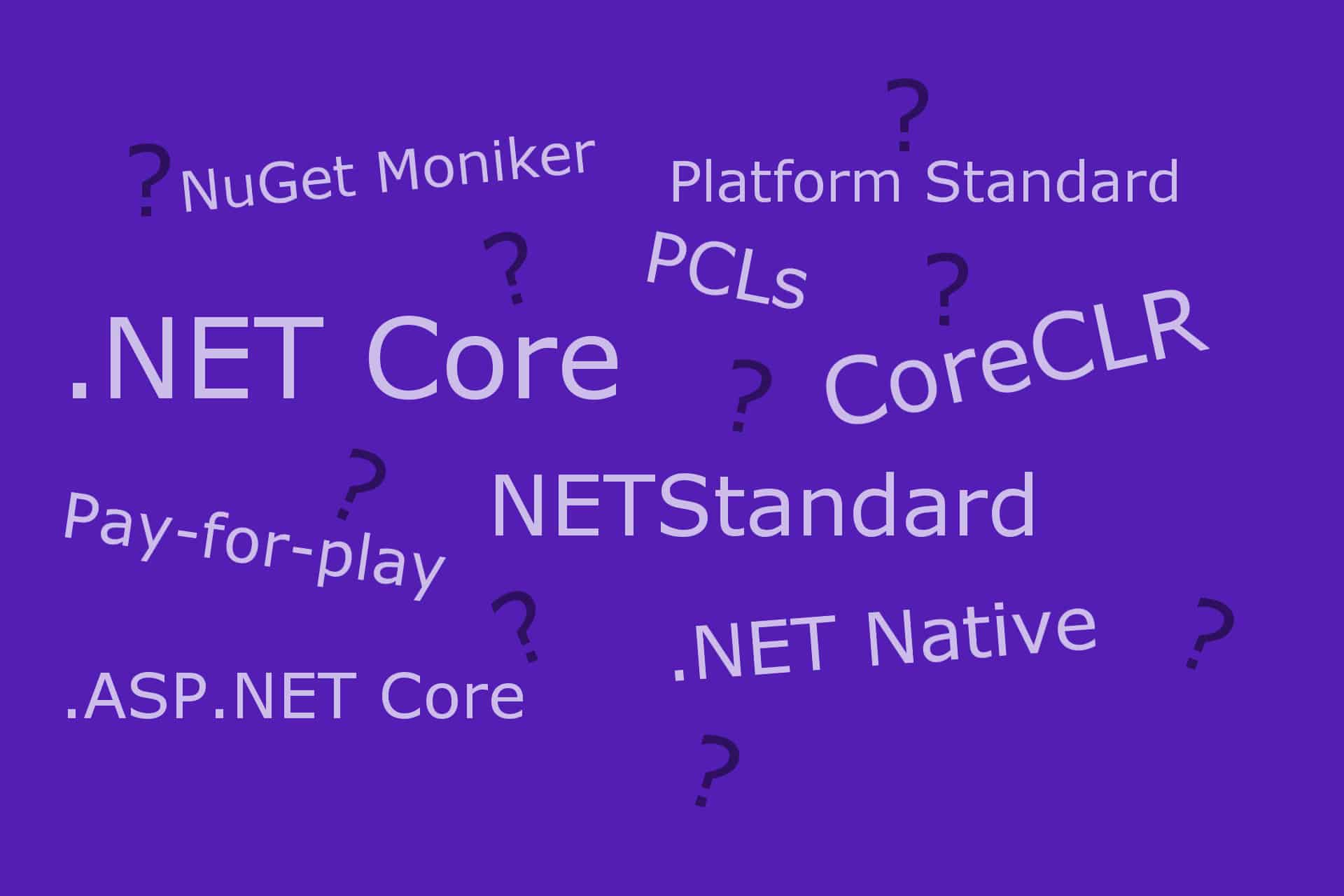 Banner image for Understanding .NET Core, NETStandard, .NET Core applications and ASP.NET Core