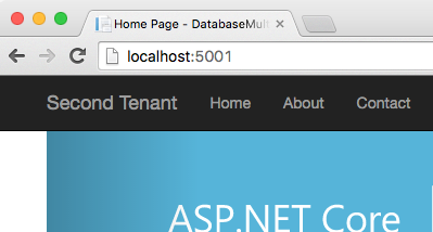second tenant at localhost:5001