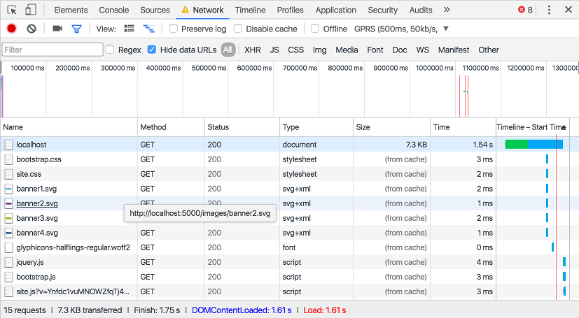 Adding Cache-Control headers to Static Files in ASP.NET Core