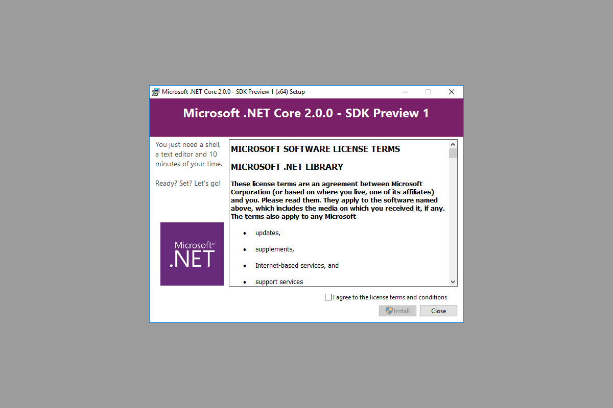 Banner image for The .NET Core 2.0 Preview 1, version numbers and global.json