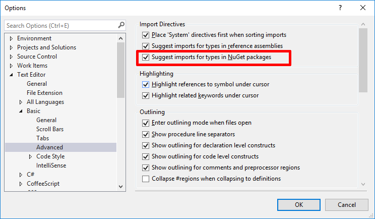 NuGet suggestions