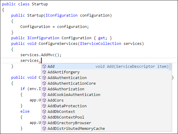 VS  Code suggestions