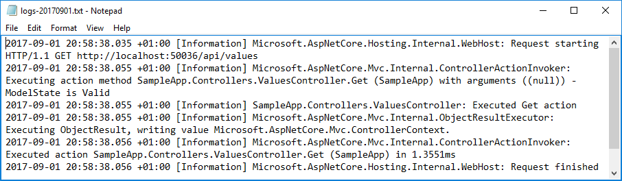 Creating a rolling file logging provider for ASP.NET Core 2.0