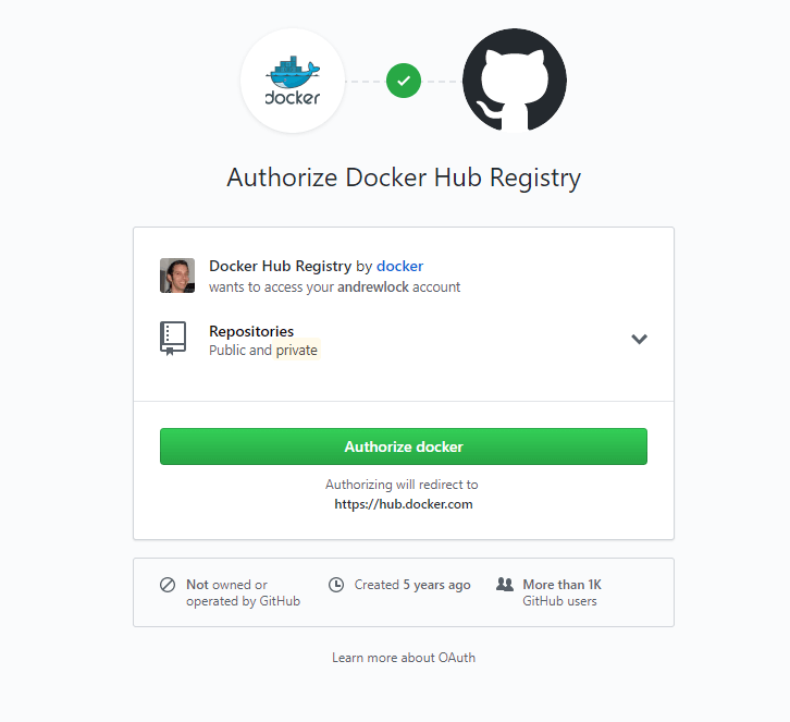 Authorize Docker Hub