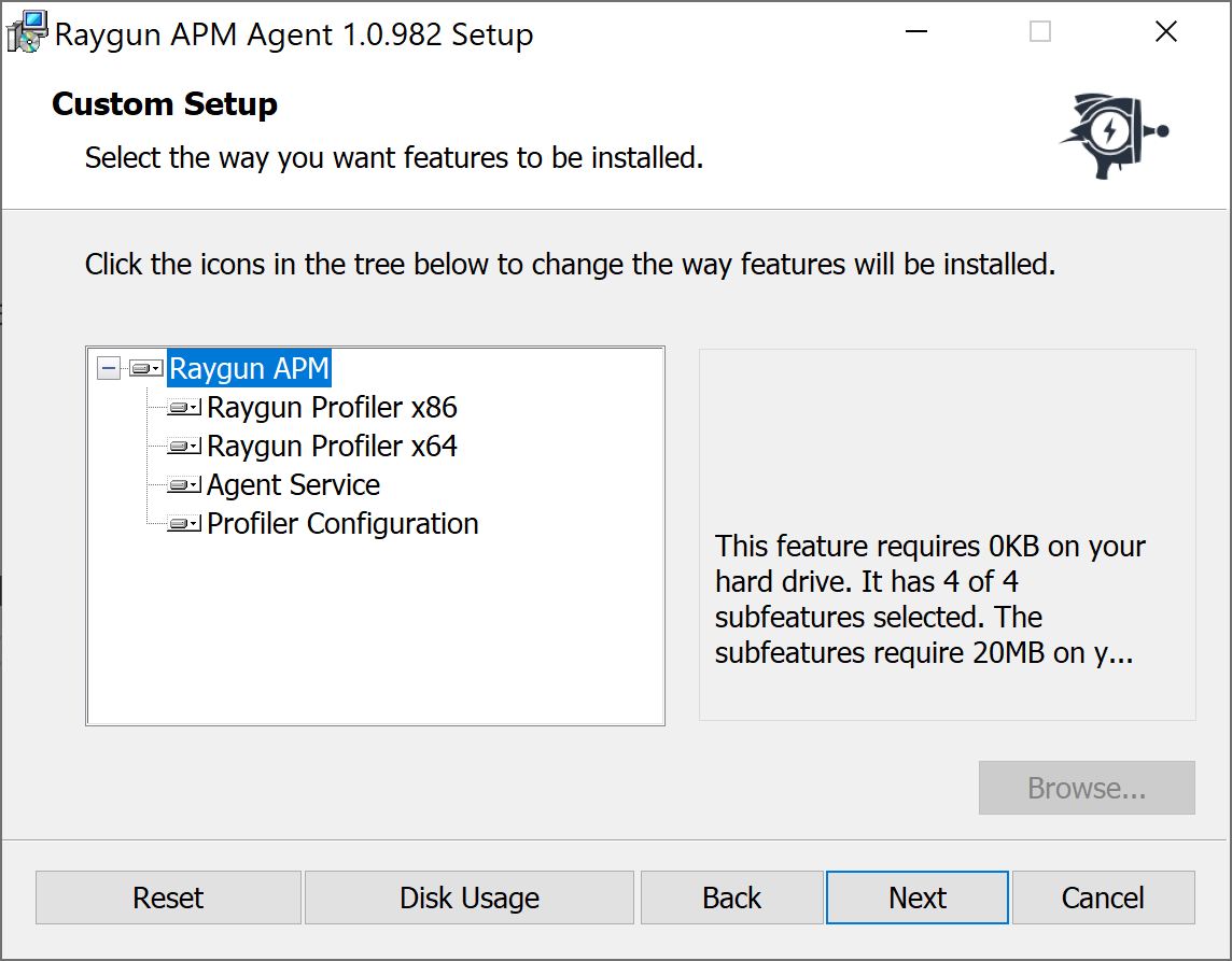 Installing the Raygun Agent on Windows