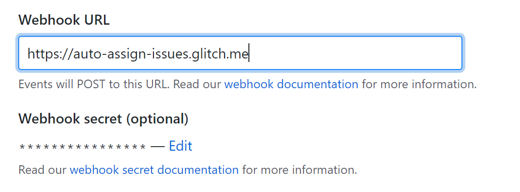 Updating the Webhook URL to point to the Glitch app