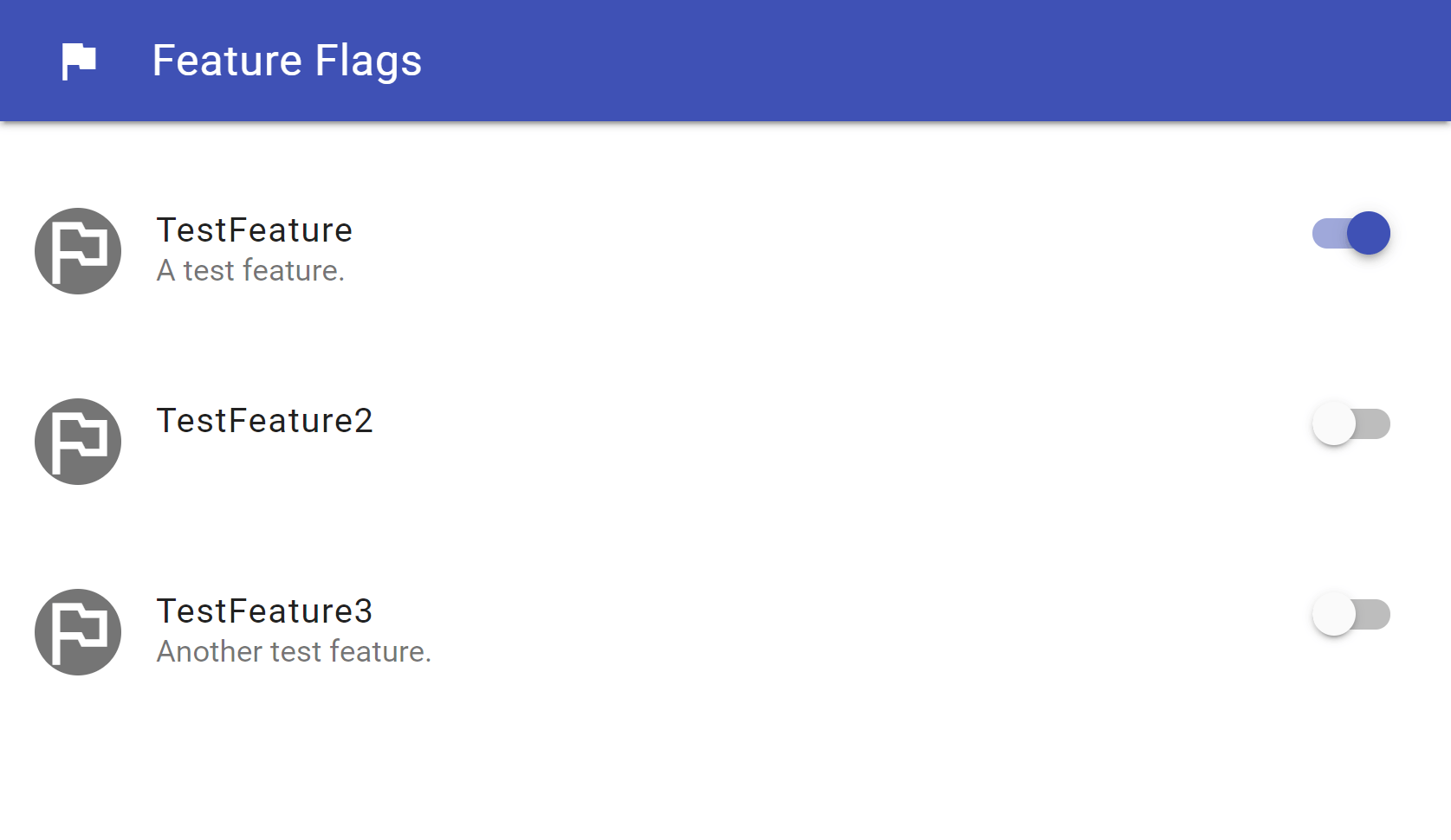 Enabling and disabling feature flags using the UI