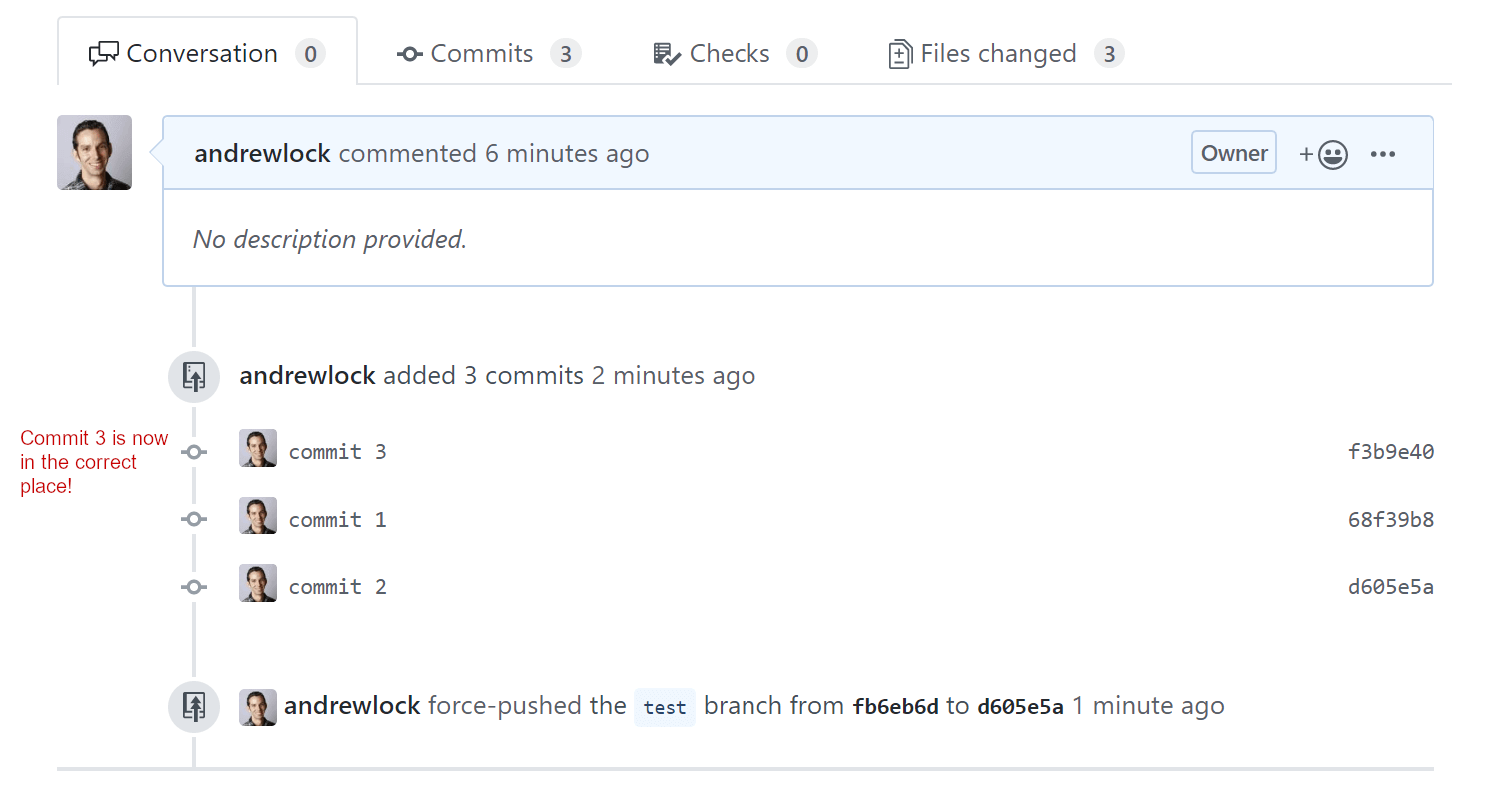 Banner image for How to fix the order of commits in GitHub Pull Requests