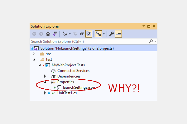 How to stop Visual Studio from creating launchsettings.json