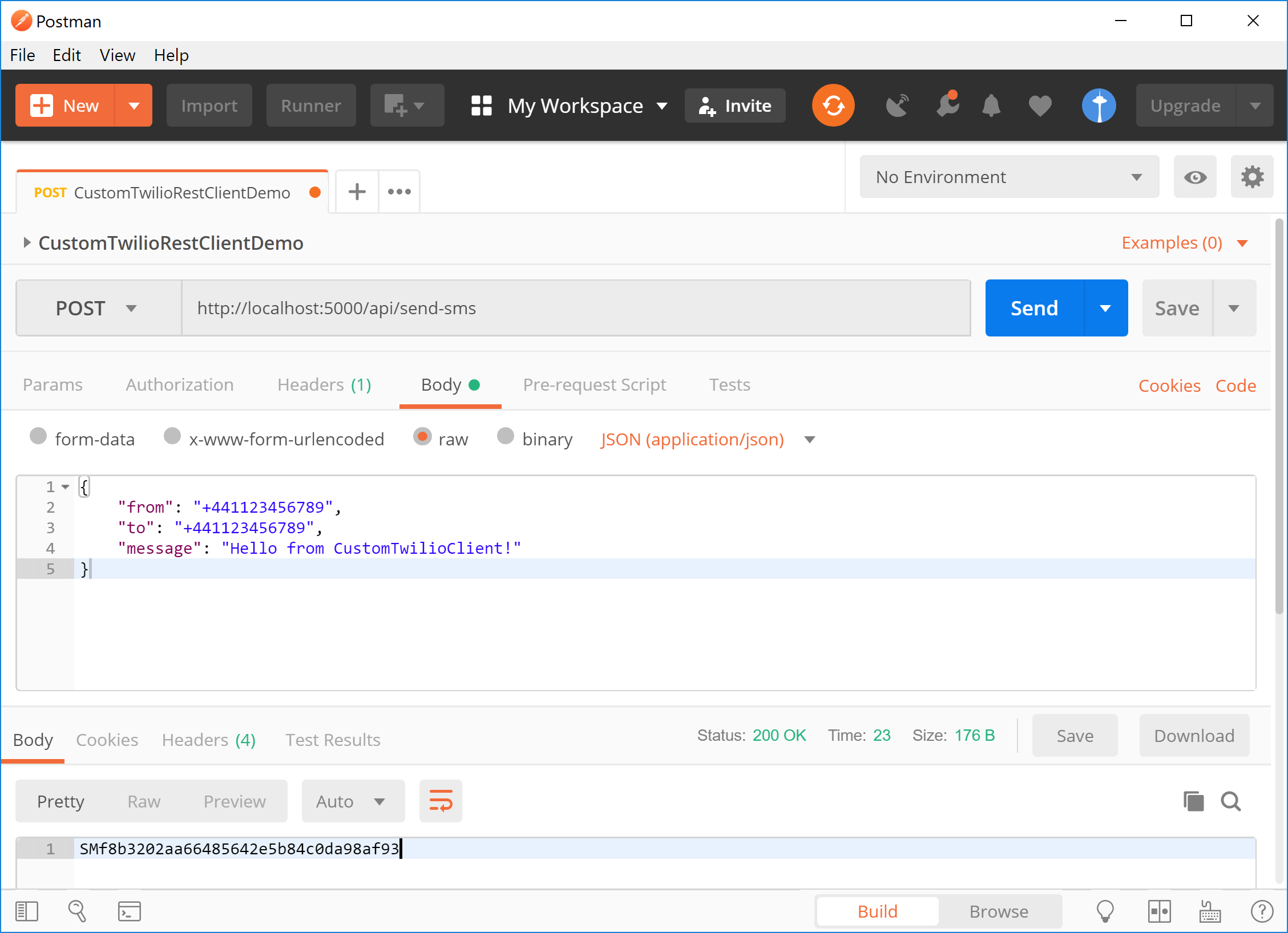 Using PostMan to test the API controller