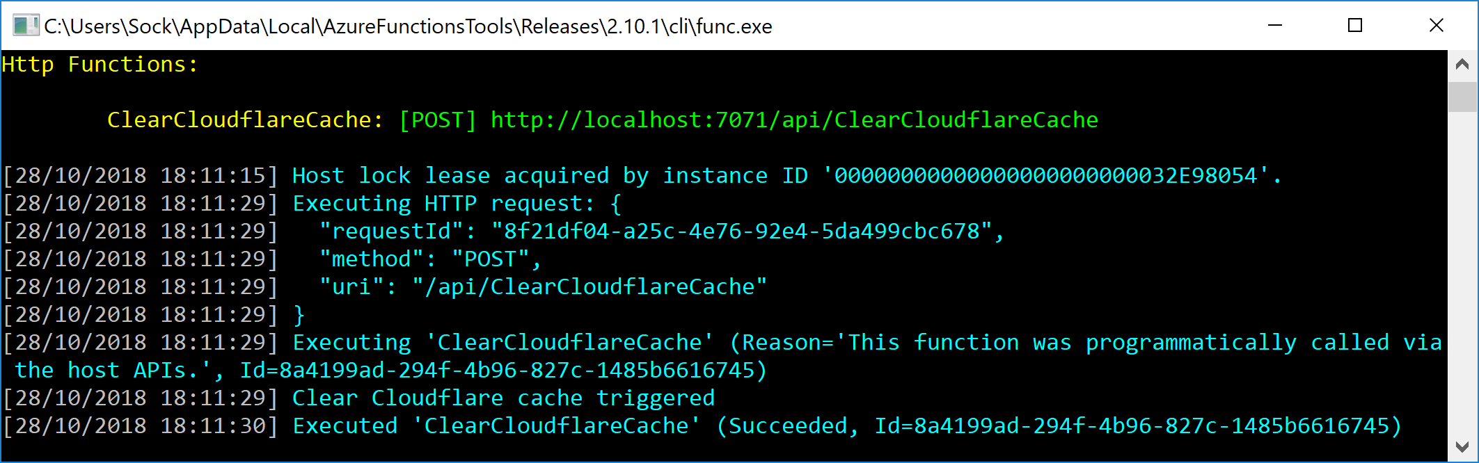Triggering a build with Azure Functions